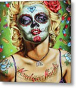 Marilyn Monroe Jfk Day Of The Dead  Metal Print