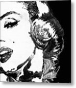 Marilyn Monroe Painting - Bombshell Black And White - By Sharon Cummings Metal Print