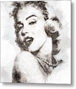 Marilyn Monroe Portrait 01 Metal Print