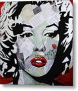 Marilyn Monroe Red Flower Metal Print