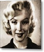 Marilyn Monroe, Vintage Actress Metal Print