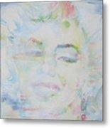 Marilyn Monroe - Watercolor Portrait.13 Metal Print