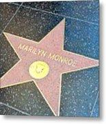Marilyn's Star Metal Print