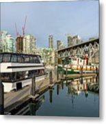 Marina At Granville Island In Vancouver Bc Metal Print