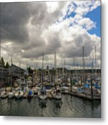 Marina In Olympia Washington Waterfront Metal Print