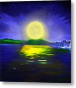 Marina Moonrise Metal Print
