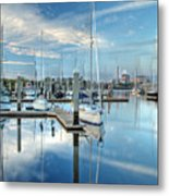 Marina Sunrise Metal Print