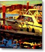 Marina Sunset Metal Print