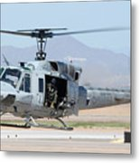 Marine Corps Bell Uh-1n Huey Buno 158559 Mesa Gateway Airport Arizona March 11 2011 Metal Print