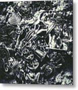 Marine Elemental Abstraction Metal Print