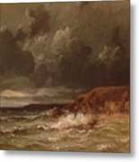 Marine Landscape The Cape And Dunes Of Saint Quentin 1870 Metal Print