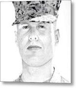 Marine Sgt Joseph Fankhauser  Metal Print