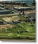 Mariners Point Golf Center In Foster City, California Aerial Photo Metal Print