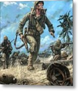 Marines In The Pacific Metal Print