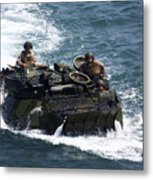 Marines Operate An Amphibious Assault Metal Print