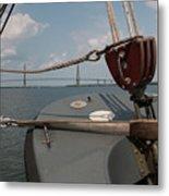 Maritime Bridge View Metal Print