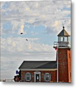 Mark Abbott Memorial Lighthouse  - Home Of The Santa Cruz Surfing Museum Ca Usa Metal Print