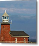 Mark Abbott Memorial Lighthouse California - The World's Oldest Surfing Museum Metal Print by Christine Till