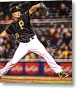 Mark Melancon Baseball Metal Print