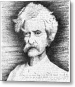 Mark Twain In His Own Words Metal Print
