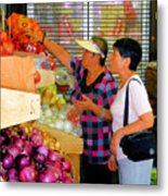 Market At Bensonhurst Brooklyn Ny 2 Metal Print