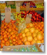 Market At Bensonhurst Brooklyn Ny 9 Metal Print