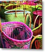 Market Baskets - Libourne Metal Print
