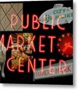 Market Collage Metal Print