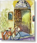 Market Day In Lucca Metal Print