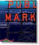 Market Ferry Metal Print