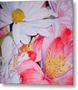 Market Flowers - Watercolor Metal Print