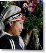Market Flowers Metal Print