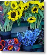 Market Fresh In Watercolor Metal Print