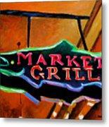 Market Grill Metal Print