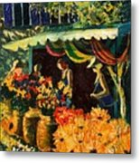 Market In Provence Metal Print