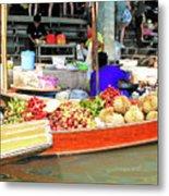 Market In Thailand Metal Print