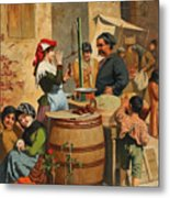 Market Scene In Trieste Metal Print