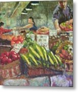 Market Stacker Metal Print