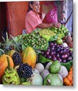 market stall in Nicaragua Metal Print