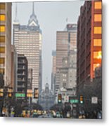 Market Street Philadelphia - In The Morning Metal Print