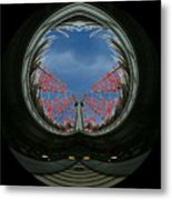 Market Through The Looking Glass Metal Print