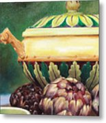 Market Tureen Metal Print by Denise H Cooperman