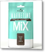 Marketing Mix 4 P's Metal Print