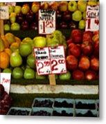 Marketplace Fruit Metal Print