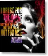 Marlene Dietrich Quote Metal Print