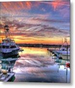 Marlin Quay Marina At Sunset Metal Print