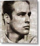 Marlon Brando, Vintage Actor Metal Print