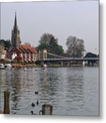 Marlow By The River Thames Metal Print