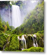 Marmore Waterfalls Italy Metal Print