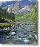210404-maroon Bells And Creek  Metal Print